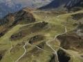 Austria: Paragliding-Airshot from Hochfirst mountain above Schruns in Montafon-valley, VOrarlberg