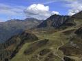 Austria: Airshot Hochfirst mountain above Schruns in VOrarlberg