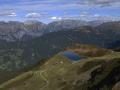 Austria: parnoramic mountain-view from Hochfirst over the Montafon-valley near Schruns in Vorarlberg