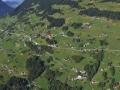 Austria: Paragliding-Airshot from Schruns village in Montafon-valley; Vorarlberg;