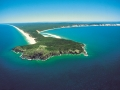 Aerial view of Double Island Point at Rainbow Beach, Sunshine Coast, Queensland;
