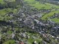 Austria: Airshot from Schruns-village in Montafon-valley, Vorarlberg