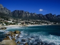 Die 12 Apostel des Tafelberges bei Camps BAy, dem schönsten Vorort Kapstadts. The 12 apostels from the table mountians at Camps Bay in Capetown