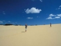 Queensland: Gigantische Sanddünen auf Fraser Island im Great Barrier Reef. Giant sanddunes on Fraser Island.
