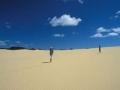 Queensland: Gigantische Sanddünen auf Fraser Island im Great Barrier Reef. Giant sanddunes on Fraser Island.