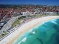 Luftaufnahme von der Bondi-Beach in Sydney. Australia, Sydney: Bondi Beach Air Shot