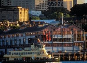 Die Victoria Wharf in der Stadt Sydney. Victoria Wharft in the city of Sydney.