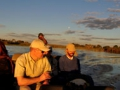 Boattrip and expedition through Okavango Delta swamps. Bootsausflug in den Okavango Delta Sümpfen