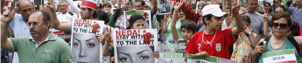 Iran-Demo in Berlin gegen die Hinrichtungen des iranischen Regimes. © GMCphotoweb