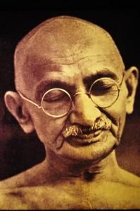 Portrait des Humanisten im Ghandi Museum in Ahmedabad, Gujarat
