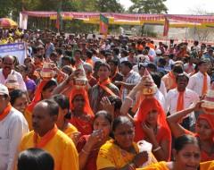 Politische Kundgebung, Kommunisten, Ahmedabad, Gujarat | political celebration, communist party, masses of peoples. © GMC Photopress, gmc1@gmx.ch