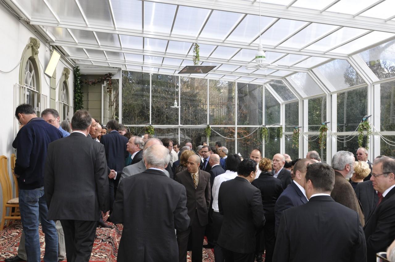 Feier im Wintergarten der Iranische Botschaft in Bern