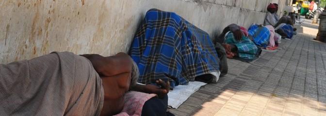 Headerbild Poor People sleeping on the boardwalk in Ahmedabad, Gujarat, India. © GMC Photopress, Gerd Müller, gmc1@gmx.ch