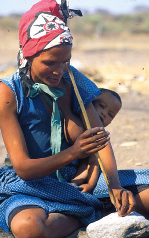 HF Bushmen Boy Kalahari, Botswana. © GMC Photopress, Gerd Müller, gmc1@gmx.ch