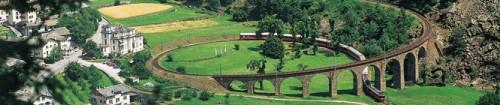 Headerbild: Weltkulturerbe-Bahnreise mit der Rhätischen Bahn