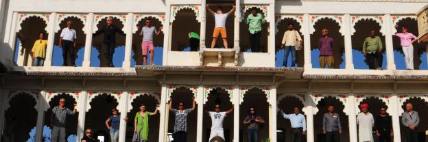 1260px Header Poshina/Gujarat, Maharadscha-Palast, Heritage Hotel, Aussicht | Poshina/Gujarat, Maharadscha-Palace, heritage hotel.