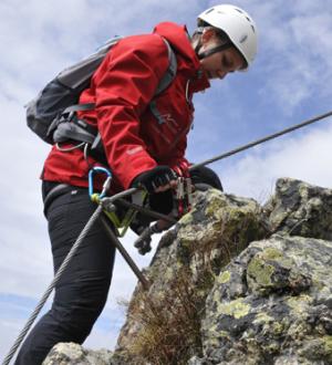 Frau, klettern, Gargellen-Köpfe, Montafon | Woman climbing Gargellen-Köpfe