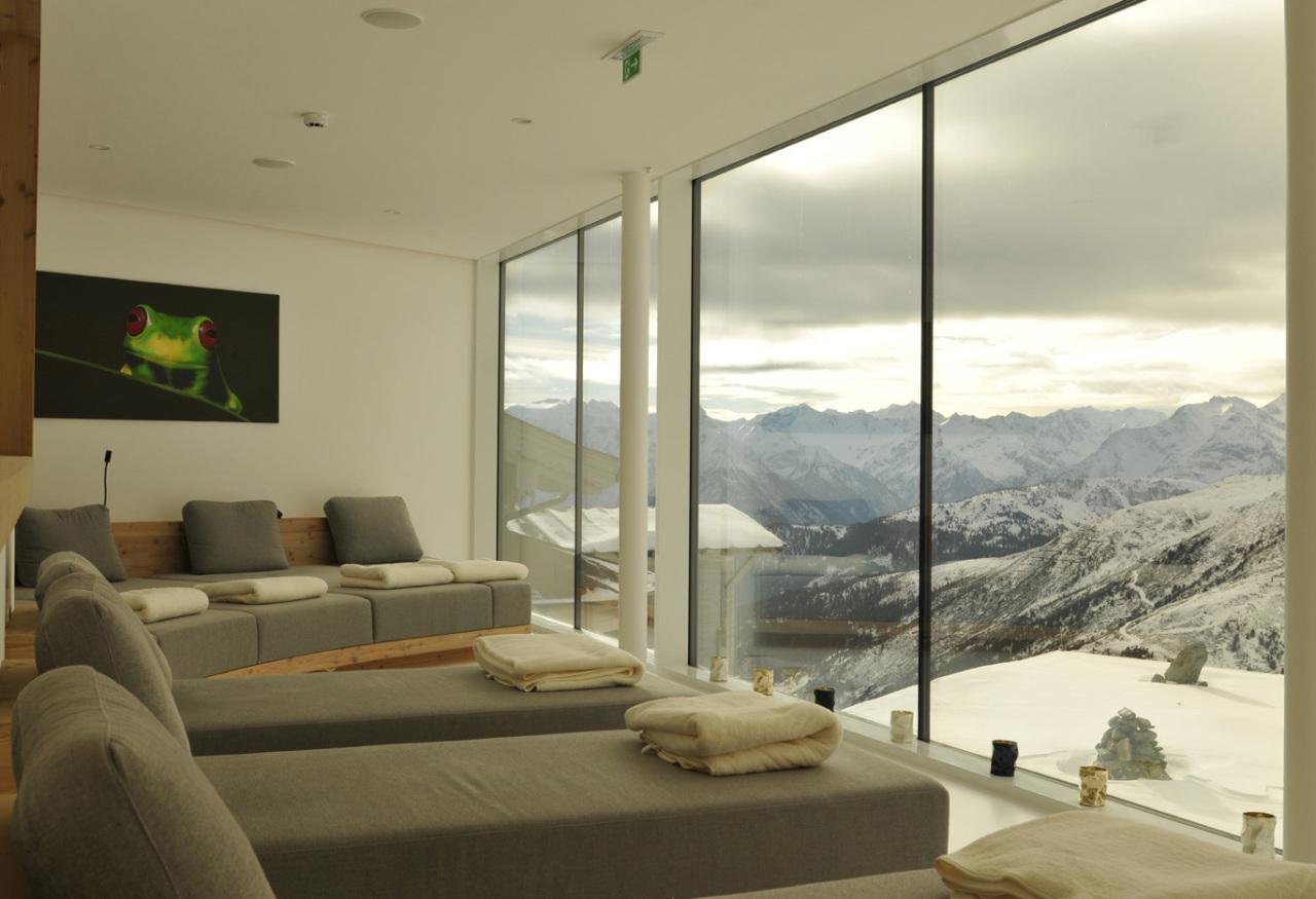 Relax-Room im Spa der Kristallhütte im Hochzillertal