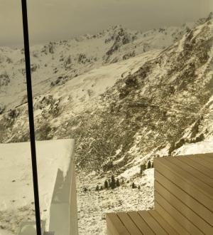 Bergpanorama-Sauna in de  Kristallhütte im Hochzillertal