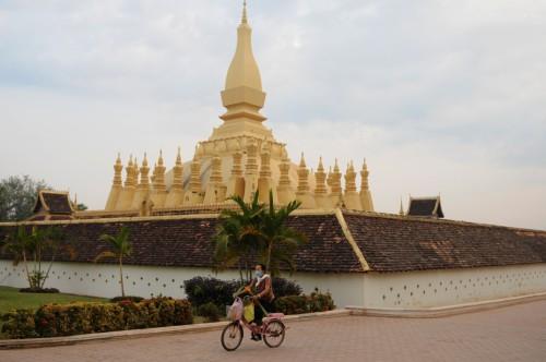 Laos Vietianne Pagoda 5264