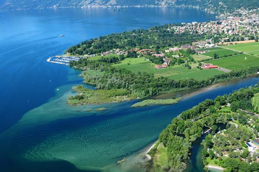 Schweiz: MaggiaDeltaLagoMaggioreAirshot5200