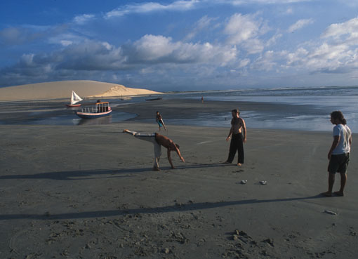 Brasiliens. At the beach of Jericoacoara in the northeast of Brasil.