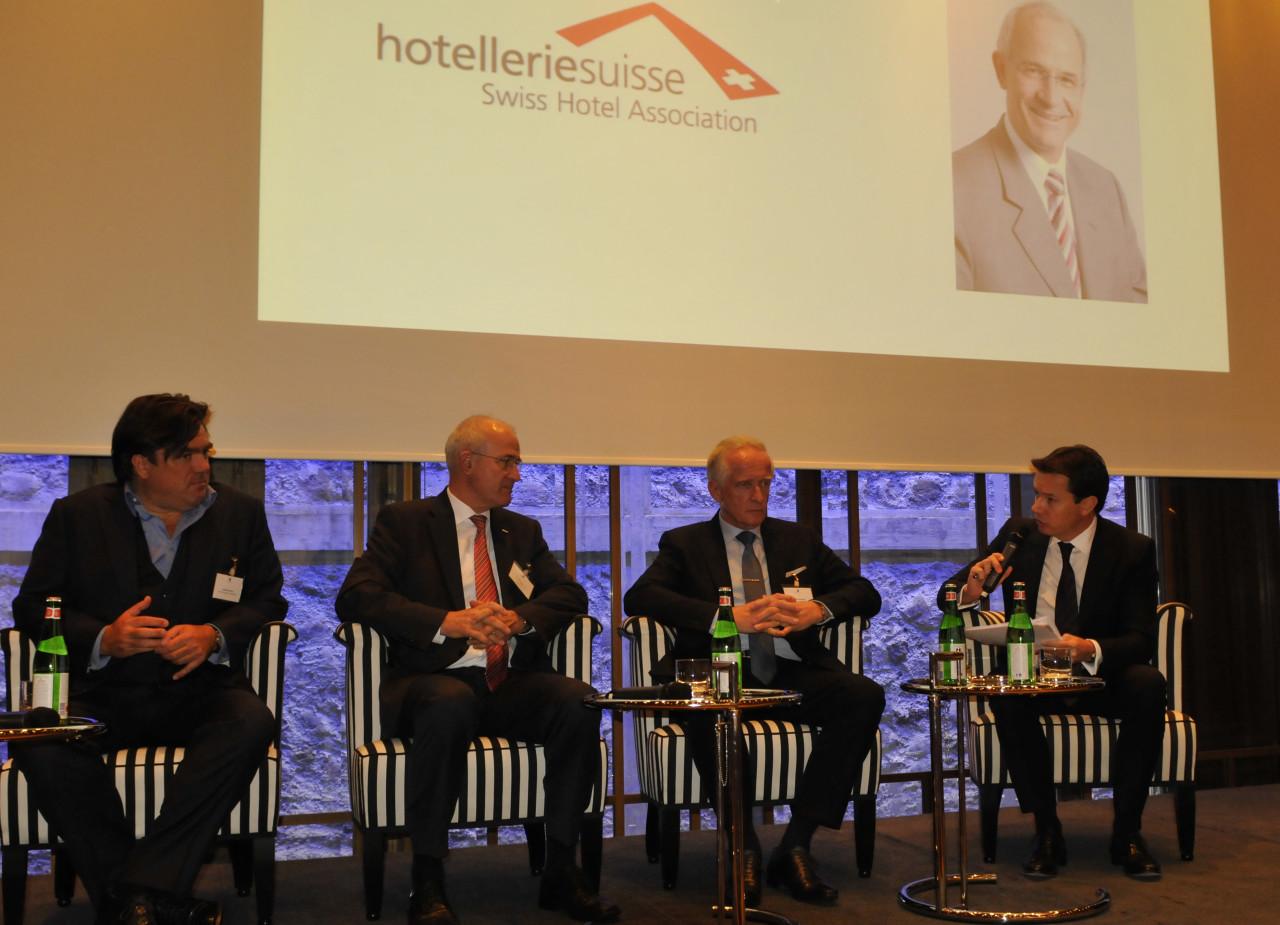 Schweiz: Swiss Deluxe Hotels Pressekonferenz0787