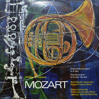 LP's On Sale: Mozart Klavierkonzert in A-dur, Hornkonzerte in d-dur, Rolf Eichler, Robert Freud