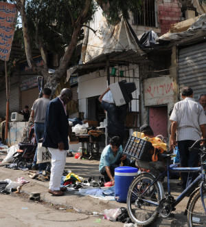 Zählen zu den Ärmsten: Die Palästinensischen Flüchtlinge im Lager Schatila.Belong to the poorest: The palestinian refugies in Beirut-City
