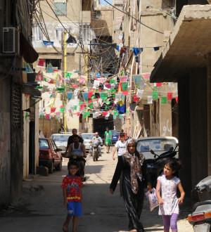Schatila Palestinian Refugie Camp in Beirut. Beirut: Das Palästinenser-Flüchtlingscamp Schatila